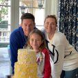 Mark Wahlberg, son épouse Rhea Durham et leur fille Grace. Janvier 2020.