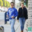 """Exclusif - Mark Wahlberg et sa femme Rhea Durham vont déjeuner avec un ami au restaurant """"Jersey Mike's Subs"""" à Beverly Hills, le 22 janvier 2020."""