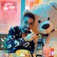 """Oussama de """"Pékin Express"""" avec un nounours sur Instagram, le 1er février 2020"""
