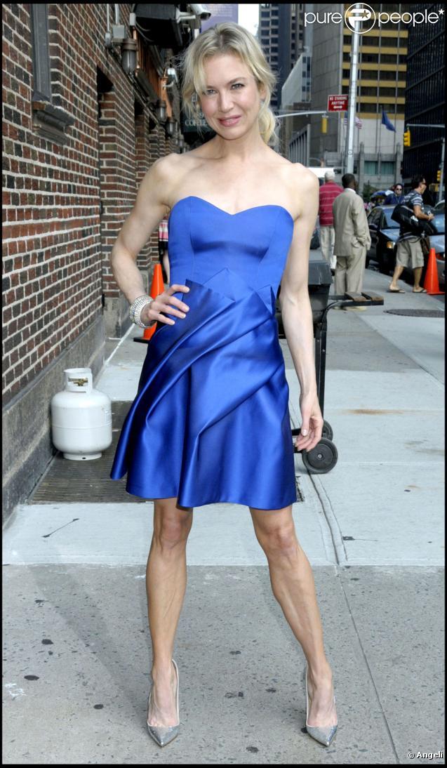 Renée Zellweger se rendant sur le plateau du Late Show de David Letterman à New York le 20 août 2009