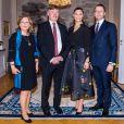 """La princesse Victoria de Suède et le prince Daniel de Suède - La princesse Victoria et le prince Daniel de Suède assistent au dîner organisé au """"Norrbotten County Governor"""" à Luleå , le 9 mars 2020."""