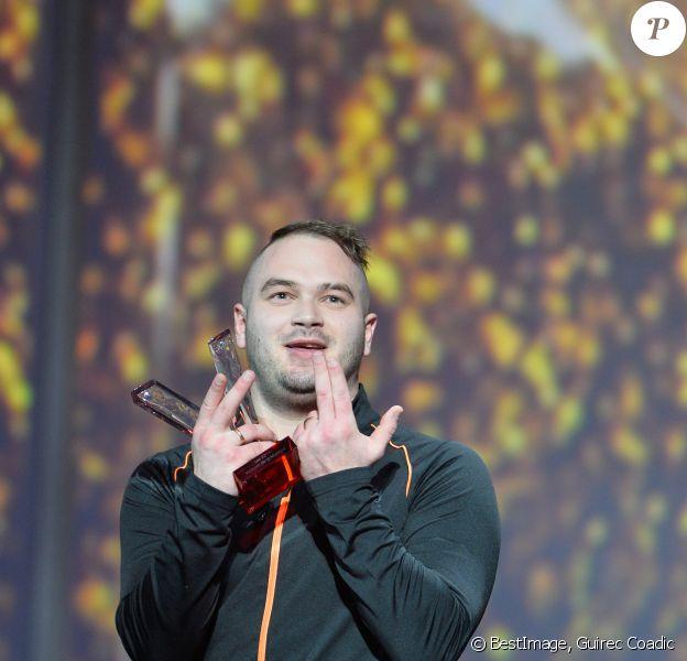 """Jul (album de musiques urbaines) lors de la 32ème cérémonie des """"Victoires de la Musique"""" au Zénith de Paris, le 10 février 2017. © Guirec Coadic/Bestimage"""