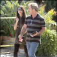 Mel Gibson et sa compagne Oksana Grigorieva à Los Angeles après avoir dîné au restaurant le 24 août 2009