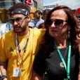 Neymar et sa mère Nadine au Grand Prix de Montmelo en Espagne, le 12 mai 2019.