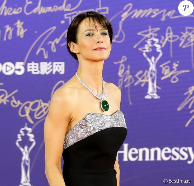 Sophie Marceau sur le tapis rouge de la cérémonie d'ouverture du 9ème festival international du film de Pekin, Chine, le 13 avril 2019.