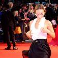 """Lily-Rose Depp à l'avant-première du film """"Le Roi"""", au BFI London Film Festival, le 3 octobre 2019."""