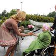 Madeleine de Suède apporte son soutien aux Maisons de Parents Ronald McDonald, le 26 août 2009 à Linkoping (Suède)