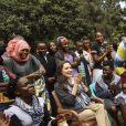 Angelina Jolie (Envoyée Spéciale du Haut Commissariat des Nations Unies pour les Réfugiés (HCR)) assiste à un défilé de mode dans un camps de réfugiés du UNHCR de Nairobi. Angelina Jolie a déclaré n'être jamais allée à un défilé de mode. Kenya, le 8 mars 2018.