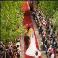 Mariage de Kate Middleton et du prince William d'Angleterre à Londres, le 29 avril 2011. Parmi leurs demoiselles d'honneur, l'adorable boudeuse Grace van Cutsem.