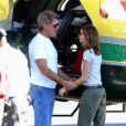Calista Flockhart et Harrison Ford à l'aéroport de Burbank le 6 janvier 2003