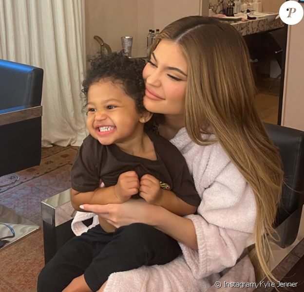 Kylie Jenner et sa fille Stormi. Avril 2020.