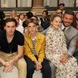 La famille de Victoria Beckham lors de son défilé de mode, à Londres, le 15 septembre 2019.