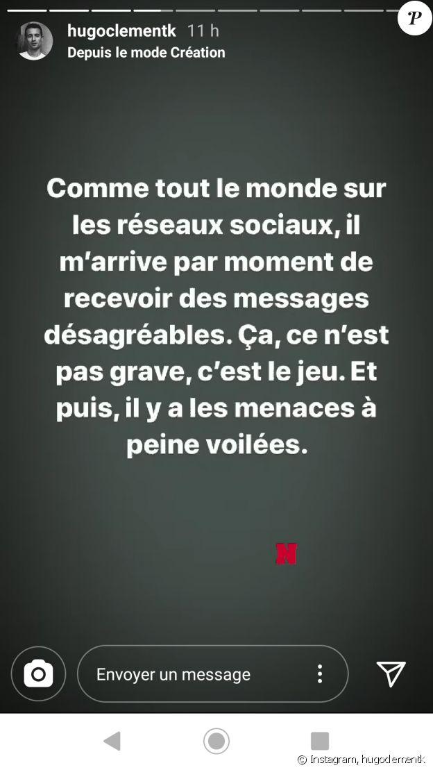 Hugo Clément a vu sa famille menacée par un homme sur Instagram et a riposté le 5 mai 2020.
