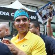 Roger Federer, Rafael Nadal, Serena Williams et John McEnroe ont passé de bons moments, le 26 août 2009, avec les jeunes New-Yorkais