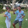 Alex Morgan enceinte et son mari Servan Carrasco. Décembre 2019.