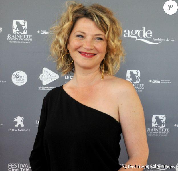 """Cécile Bois au festival """"Les Herault du cinéma et de la télé"""" au Cap d'Agde le 18 juin 2019. © Robert Fages / Bestimage"""
