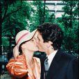 Marc Lavoine et Sarah Poniatowski le jour de leur mariage en mai 1995