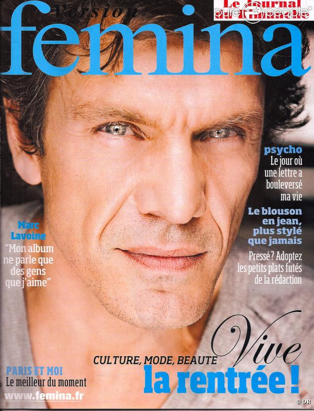 Marc Lavoine en couverture de Version Femina