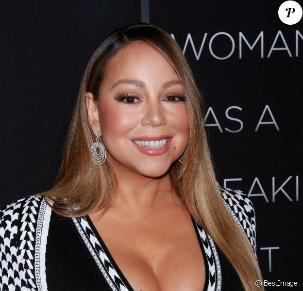 """Mariah Carey - Avant-première du film """"A Fall from Grace"""" au cinéma Metrograph à New York, le 13 janvier 2020."""