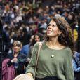 "Noura El Shwekh (la femme de Tsonga) assiste au match ""Jo-Wilfried Tsonga - Matteo Berrettini (6/4-6/3)"" lors du tournoi Rolex Paris Masters 2019, le 30 octobre 2019. © Perusseau-Veeren/Bestimage"