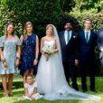 La princesse Maria Petrovna Galitzine et son mari Rishi Singh lors de leur mariage en 2017.
