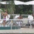 Britney et Jamie Lynn Spears avec leurs enfants à Miami le 31 août 2009
