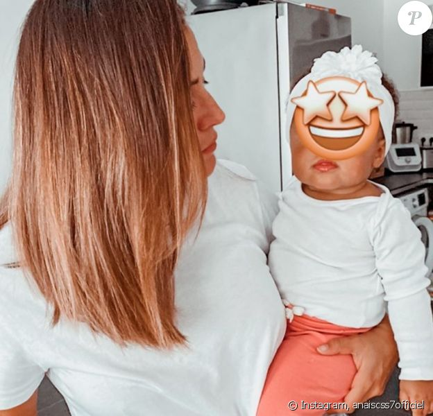 Anaïs Camizuli avec sa fille Kessi, le 16 mai 2020
