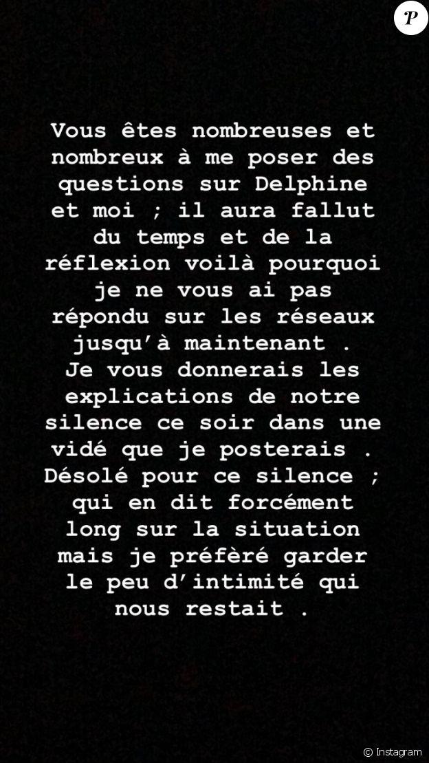 Romain (Mariés au premier regard) poste un message énigmatique sur Instagram, mai 2020.