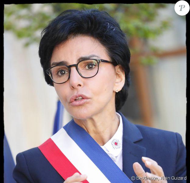 Exclusif - Epidémie de Coronavirus (Covid-19) - Rachida Dati lors de la cérémonie de commémoration du 8 Mai 1945. Paris, Mairie du VIIème arrondissement, le 7 Mai 2020. © Alain Guizard / Bestimage