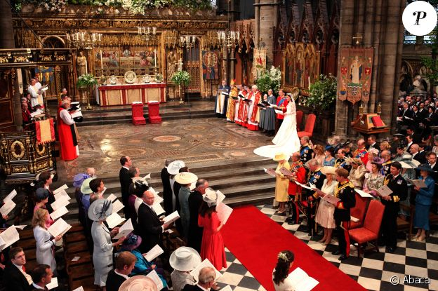 Mariage du prince William et Kate Middleton en l'abbaye de Westminster, le 29 avril 2011.