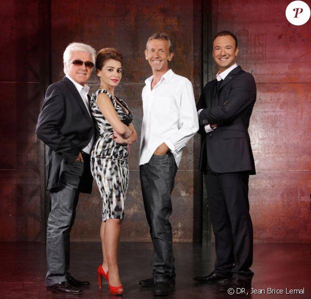 Le jury d'X Factor : Julie Zenatti, Marc Cerrone et Alain Lanty accompagnés par Alexandre Devoise. En exclusivité sur W9