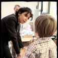 Rachida Dati a fait la rentrée dans les écoles du VII eme le jeudi 3 septembre.