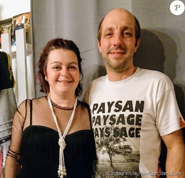 """Maud et Laurent de """"L'amour est dans le pré 2019"""" posent sur Instagram, le 1er janvier 2020"""