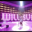 Verushka (Pascal Obispo) lors de la demi-finale de The Voice, le samedi 6 juin 2020 sur TF1.