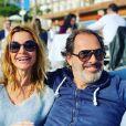 Ingrid Chauvin et son époux  Thierry Peythieu sur Instagram. Le 9 février 2020.