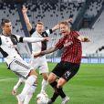 Cristiano Ronaldo lors du match Juventus - Milan AC en demi-finale retour de la Coupe d'Italie. Turin, le 12 juin 2020.