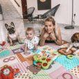 Jessica Thivenin avec Maylone et ses chiens, le 5 juin 2020
