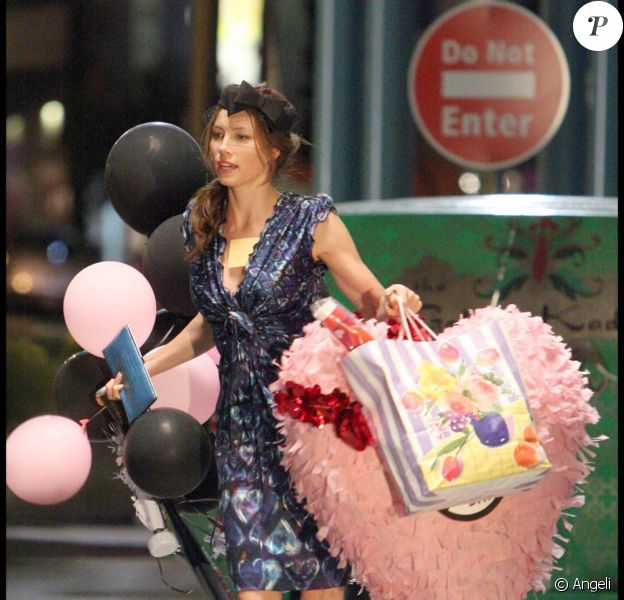 Jessica Biel, sur le tournage de Valentine's Day, à Los Angeles, le 4 septembre 2009 !