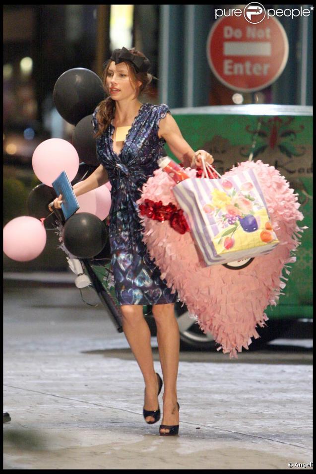 Jessica Biel, sur le tournage de  Valentine's Day , à Los Angeles, le 4 septembre 2009 !