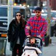 Justin Timberlake et sa femme Jessica Biel sont allés déjeuner avec leur fils Silas au restaurant Bubby dans le quartier de Downtown Manhattan à New York, le 23 février 2020