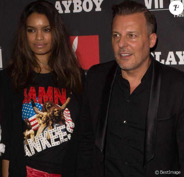 """Jean-Roch et sa femme Anaïs Monory - Soirée de lancement du nouveau 1er numéro du magazine """"Playboy"""" au Vip Room à Paris. Le 9 décembre 2016."""