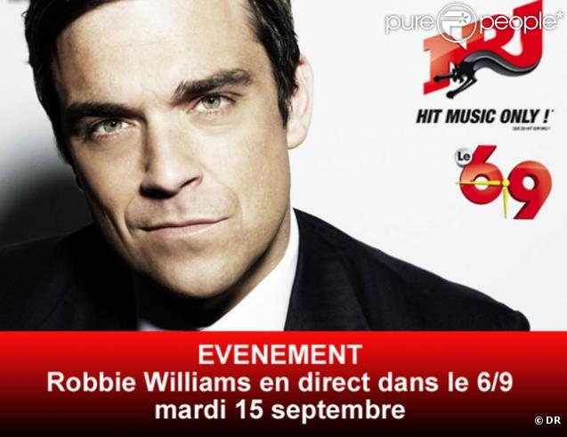 Robbie Williams sera l'invité du morning de Nikos, le 15 septembre 2009