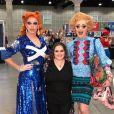 Nikki Blonsky avec Tammie Brown et Morgan McMichaels de l'émission RuPaul's Drag Race. Le 27 juin 2019.