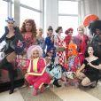 """Les membres du casting de la saison 12 de l'émission de téléréalité """"Rupaul's Drag Race"""", lors de la visite de l'Empire State Building à New York City, New York, Etats-Unis, le 25 février 2020. © Bryan Smith/Zuma Press/Bestimage"""
