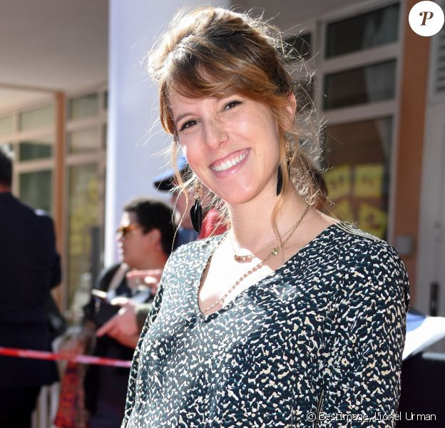 Exclusif - Léa François (enceinte) - 8ème saison des Héros de la TV à Beausoleil, le 5 octobre 2019. © Lionel Urman/Bestimage