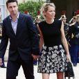 Tiphaine Auzière et son compagnon Antoine - La famille de E.Macron arrive au palais de l'Elysée à Paris le 14 mai 2017 pour la cérémonie d'investiture du nouveau président. © Stéphane Lemouton/Bestimage