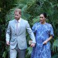 Le prince Harry, duc de Sussex et Meghan Markle, duchesse de Sussex, enceinte, rencontrent le roi du Maroc et son fils, le prince héritier du Maroc, Moulay Hassan à sa résidence à Rabat, lors d'une audience privée in Rabat le 25 février, 2019