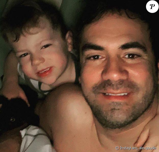 Alex Goude et son fils Elliot sur Instagram, le 15 février 2020