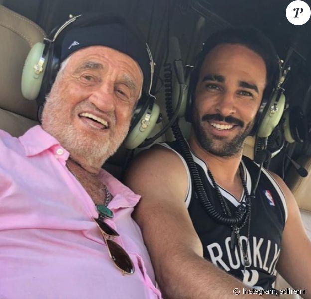 Jean-Paul Belmondo a fait un tour en hélicoptère avec Adil Rami à Saint-Tropez le 2 juillet 2020.