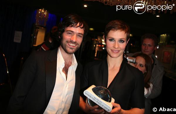 Cécile de France et Romain Duris à la cérémonie des Globes de Cristal